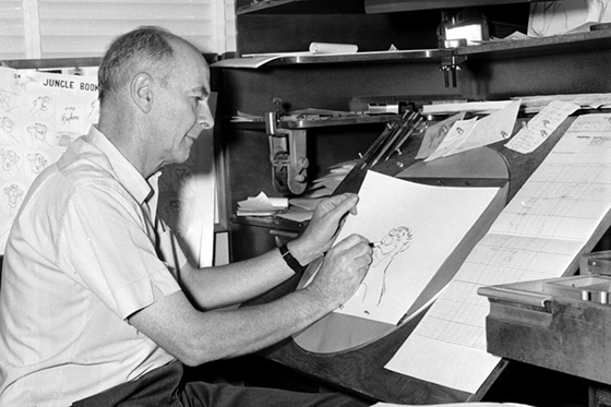 Publicity photo of Disney animator Ollie Johnston, who died at age 95 in Washington